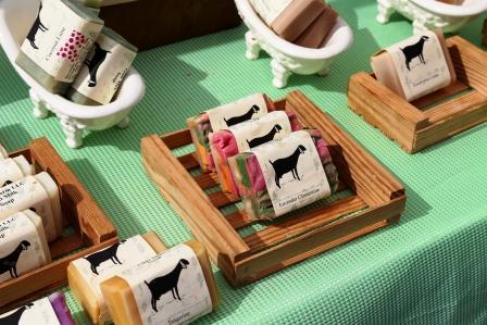 Handmade goat milk soap.